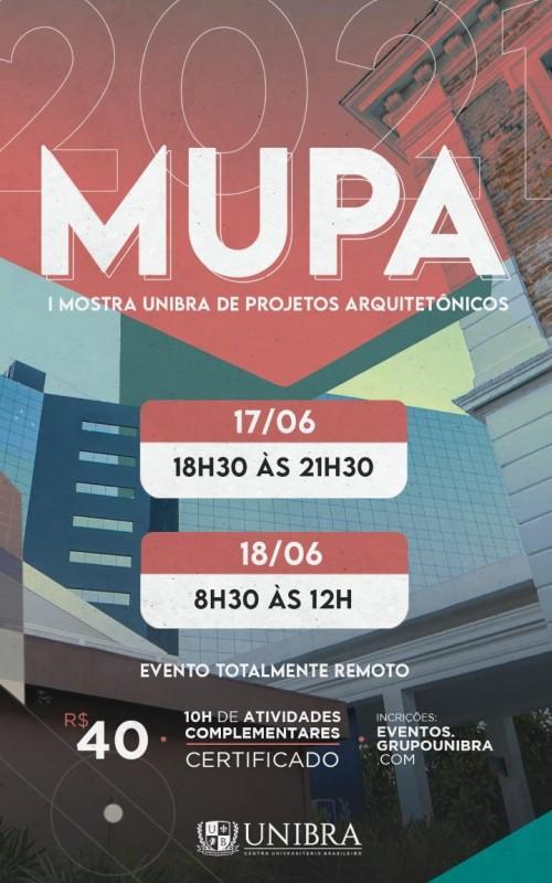 Detalhes do curso  MUPA- I Mostra Unibra de Projetos Arquitetônicos